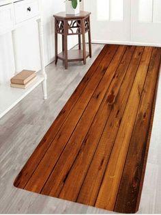Wood Board Pattern Skidproof Rug