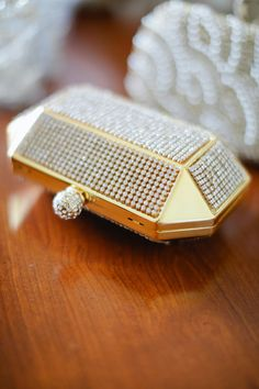Golden and crystal clutch