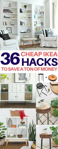 BRILLIANT Ikea hacks you have to see to believe! Cheap & easy ikea hacks, diy home decor, diy room decor, living room ideas, bedroom ideas, kitchen ideas #DIYHomeDecorIkea