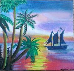 "'The Getaway"" - Acrylic Painting By: Wajeeha Zaheer"