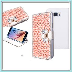 Galaxy S6 - Gem Crusted With Sparkling Bow Clasp Wallet Case in Assorted Colors