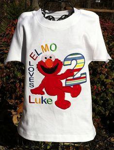 Elmo Inspired Boys Birthday Shirt