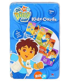 Go NIck JR Diego Go Kidz Cards in Tin by Cardinal *** You can find more details by visiting the image link.