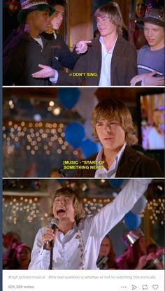 Hahahaha loved high school musical