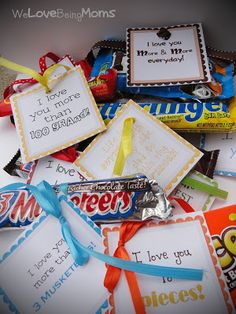 We Love Being Moms!: Candy Bar Printables...cute for your kids or to send missionaries!!