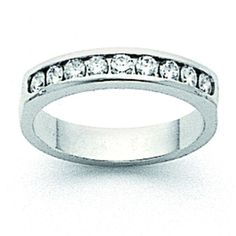 Now available on our store: 14k White Gold AA... Check it out here! http://shirindiamond.net/products/14k-white-gold-aa-diamond-channel-band-x8925aa?utm_campaign=social_autopilot&utm_source=pin&utm_medium=pin