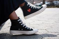 Our Style Files:The Brunch Dress: Part Un Comme des Garcon Converse Sneakers