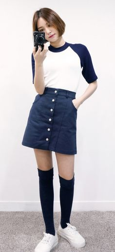 Korean Fashion – How to Dress up Korean Style – Designer Fashion Tips Colorful Fashion, Pop Fashion, Girl Fashion, Fashion Outfits, Fashion Design, Fashion Styles, Korean Fashion Trends, Korea Fashion, Asian Fashion