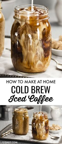 With the summer sun beginning to sizzle, it's time for Homemade Cold Brew Coffee. A creamy, slightly sweet ice cold refreshing coffee with just a hint of spice. Whether it's a morning wake up or an afternoon pick-me-up, nothing can quite compare to this d Homemade Cold Brew Coffee, Cold Brew Coffee Recipe, Cold Brew Iced Coffee, Making Cold Brew Coffee, Coffee Drink Recipes, Coffee Drinks, Coffee Coffee, Starbucks Coffee, Coffee Cake