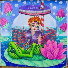 "Emelie Lidehäll Öberg - Sagolikt Gefällt 136 Mal, 9 Kommentare - Crazy For Coloring/Desi Becker (@crazy.for.coloring) auf Instagram: ""@passionistacolorista #thefrogalong #emelielidehalloberg #emelielidehällöberg #sagolikt #fairytales…"""