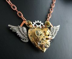 Steam punk necklace I love this!!!! #wantingthissobad