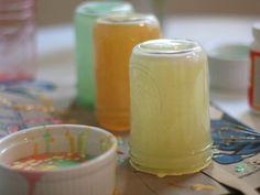 Create colored mason jars