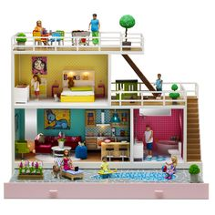 Stockholm Poppenhuis. Mothers fall in love with it, kids want to have it and grandmothers will be touched with memories once they see the Lundby doll houses. The doll houses are made for kids with a lively fantasy and for parents that want to stimulate the creativity of their kids.