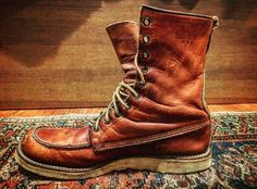 ✸This Old Stomping Ground✸ — Sold my Red Wing Irish Setters Woodland Shoes, Woodland Party, Red Wing Moc Toe, Abercrombie Men, Red Wing Boots, Mens Boots Fashion, Wedge Boots, Men's Boots, Vintage Shoes