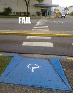 Ugh this makes me crazy given my obsession with handicapped parking being wrong everywhere.