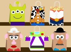 Toys story party bags 60 ideas for 2019 Cumple Toy Story, Festa Toy Story, Toy Story Party, Toy Story Birthday, Diy Party Bags, Party Favor Bags, Ideas Party, New Toy Story, Toy Story Alien