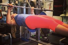 Fit Celebs in Crazy Workout Positions | Lindsey Vonn: The fearless pro skier is seriously rehabbing her knee after undergoing multiple surgeries. By the looks of this horizontal pull-up, she's becoming stronger than ever.