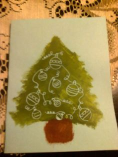 Painted Christmas Card