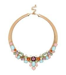 Gold tone encrusted slinky statement necklace £15.00