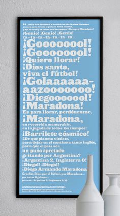 Diego Maradona Goal of the Century quotation and print