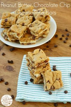 Peanut Butter Chocolate Chip Cookie Cheesecake Bars