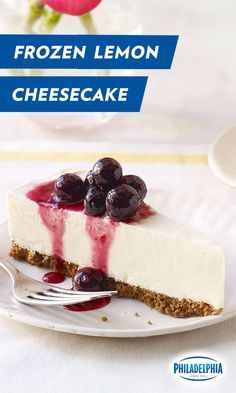 ... gingersnap crust, our Frozen Lemon Cheesecake with Blueberry Drizzle