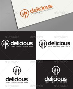 delicious logo templates — Vector EPS #fork #cafe • Available here →…
