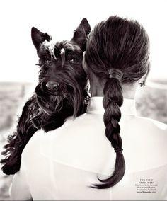 Ali MacGraw & her Scottish Terrier