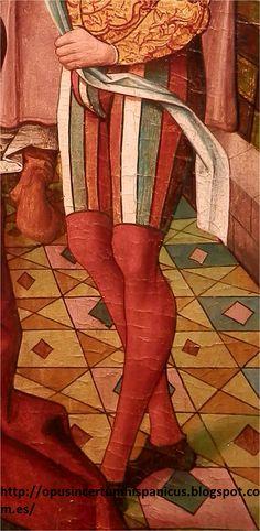 - OPUS INCERTUM - : LAS CALZAS-BRAGAS Primer cuarto XVI. La danza de Salomé, Maestro Alejo, Galería Bernat, Barcelona (detalle)