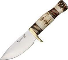 Blackjack Zachariah Wide Hunter Fixed Knife w/Stag Handle Hunting Knives For Sale, Fixed Blade Hunting Knives, Fixed Blade Knife, Smoothie Blender, Best Blenders, Best Pocket Knife, Brown Leather Belt, Tactical Knives, Survival Knife