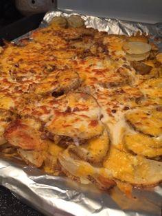 Wishes do come true...: Cheesy Fries (Potato slices)