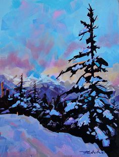 Morning over the Beauforts - acrylic by ©Brian Buckrell http://brianbuckrell.com