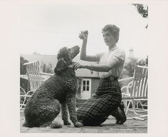 Jackie Kennedy and her poodle