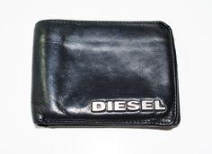 Diesel Mens Leather Bifold Card Wallet Black