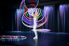 Hula Hoop Dancer, Party Entertainment for a Circus Theme Bat Mitzvah - mazelmoments.com