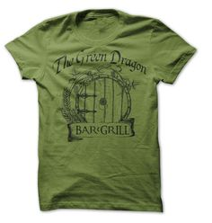 Green Dragon Bar Grill T-Shirts, Hoodies. GET IT ==► https://www.sunfrog.com/Movies/Lord-of-th-rings-parody-tee-green-dragon.html?id=41382