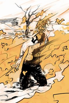 CoHF spoilery art - Jace burns with heavenly fire.