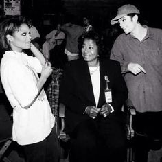 Michael, Janet and Katherine on the set of Scream