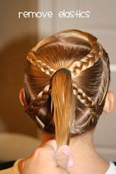 Braids Squared - good gymnastics hairdo