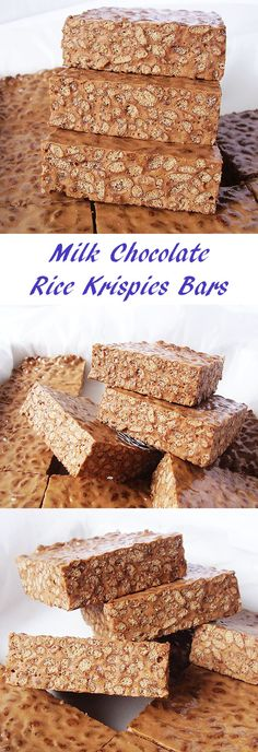 Milk Chocolate Rice Krispies Bars : no bake delicacy.