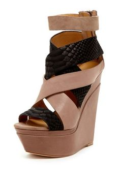 Dove Platform Strappy Wedge