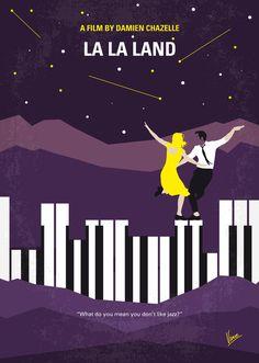 La La Land (2016) ~ Minimal Movie Poster by Chungkong #amusementphile