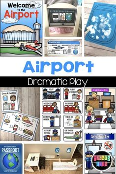 Zoom to New Places: Transportation Preschool Activities Airport Dramatic Play Dramatic Play Themes, Dramatic Play Area, Dramatic Play Centers, Preschool Dramatic Play, Play Based Learning, Learning Through Play, Transportation Preschool Activities, Eyfs Activities, Preschool Education