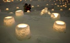 Swedish snow lanterns