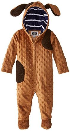 Mud Pie BabyBoys Newborn Puppy Footie Brown 06 Months -- Find out more about the great product at the image link. (This is an affiliate link) #BabyBoyFootiesandRompers