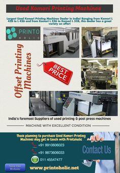 Used Komori Printing Machines Dealer In India @printo