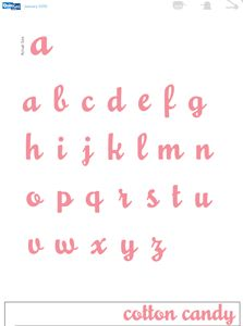 Cotton Candy Mini E 2x2 inch QuicKutz Alphabet dies