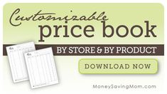 Want to create your own price book? Well, now you can download our customizable price book forms and type in your stores, products, and prices and then save it to your computer for reference to make sure you're getting the best deal.