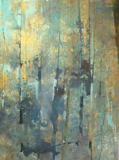 "Contemporary Painting - ""Forest Memory"" (Original Art from Joan Fullerton) Abstract Landscape, Landscape Paintings, Abstract Art, Landscapes, Tree Paintings, Abstract Paintings, Art Asiatique, Impressionist Art, Art Moderne"