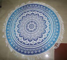 72'' Indian Cotton Bohemian Mandala Hippie Beach Towe Round Tapestry Yoga Mat  #Handmade #ArtDecoStyle Indian Tapestry, Art Deco Fashion, Beach Mat, Mandala, Outdoor Blanket, Bohemian, Yoga, Cotton, Handmade